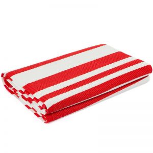 Cherai Bright Red Foldable Recycled Plastic Mat | 180x180 cm | Fab Habitat