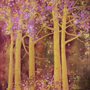 Cheryl Petersen 'Colourful Trees'   Original Painting  Tusk Gallery