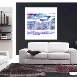 Cheryl Petersen 'Purple Haze'   Framed Print by Tusk Gallery