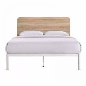 Chesca Bed Frame | White Metal & Wood | All Sizes