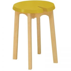 CHEVIS Stool  - Olive Yellow