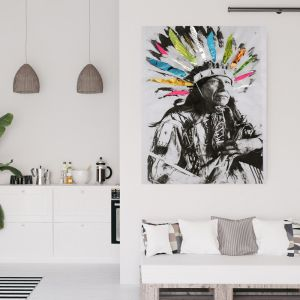 Chief Daydream | Canvas Art by Hoxton Art House