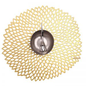 Chilewich | Tablemat Round Dahlia Gold