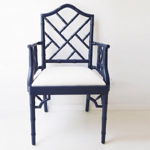 Chippendale Armchair | Navy