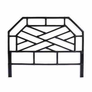 Chippendale Bedhead   Queen   Black   by Black Mango