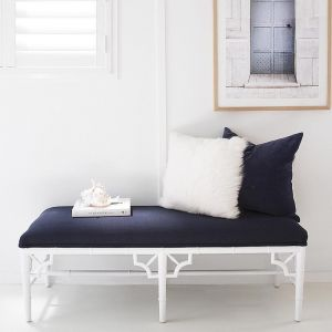 Chippendale Bench Seat   Bed End   White