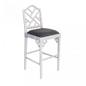 Chippendale Counter Stool   French Grey