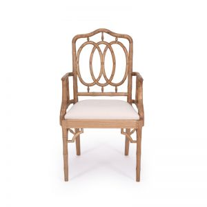 Chippendale Ring Armchair | Weathered Oak