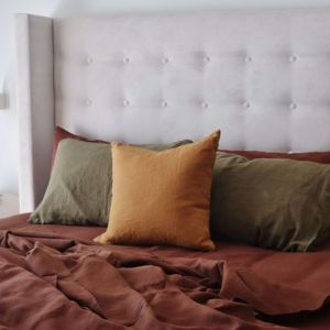 Chisolm Upholstered Bedhead   Various Sizes & Colours   Custom Made By Bedsahead