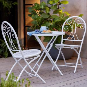Chloe 3 Piece Steel Decorative Setting White