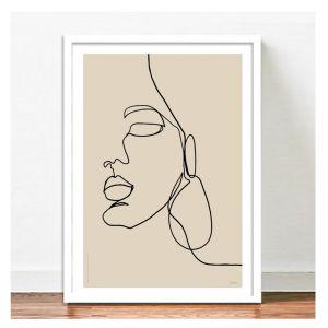 Chloe Beige Art Print | A2