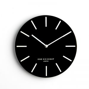 Chloe - Black 30cm SILENT Wall Clock