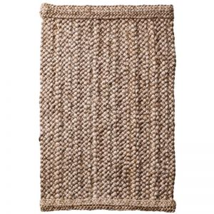 Chunky Braided Natural Silver Jute Rug
