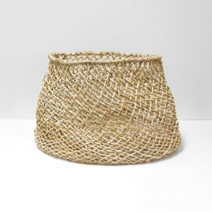 Cicely Wide Woven Basket   Large by Aura Home