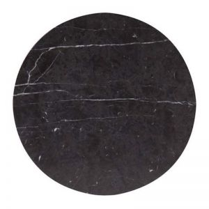 Circle Trivet in Nero Marquina Marble | Behr & Co
