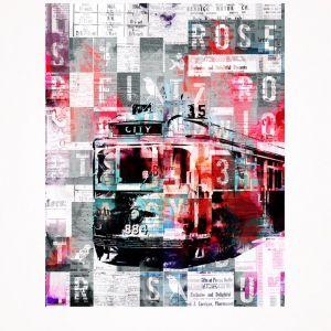 City 35 Tram Print - Small