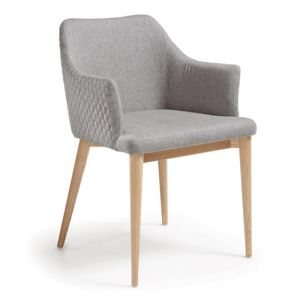CL21 Quilted Dining Chair | Light Grey | CLU Living