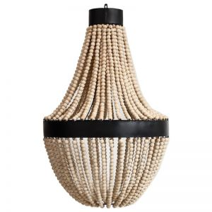 Classic Beaded Chandelier   Natural   by Raw Decor