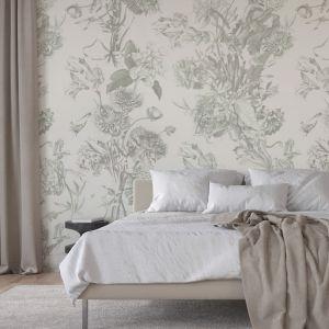 Classic Bouquet | Deep Sage | Wallpaper