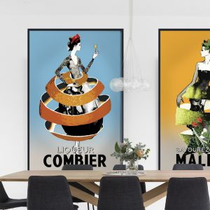 Classic Combier Poster   Signed, Artist's print or Print on Canvas