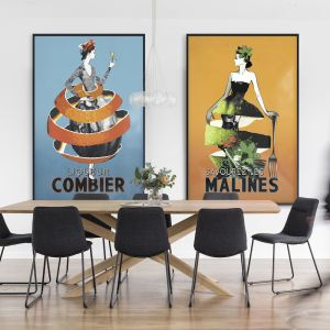 Classic Combier Poster | Signed Artist's Unframed Print or Print on Canvas