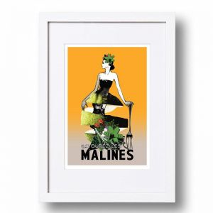 Classic Malines Poster | Signed, Artist's print by Sarah Carter-Jenkins