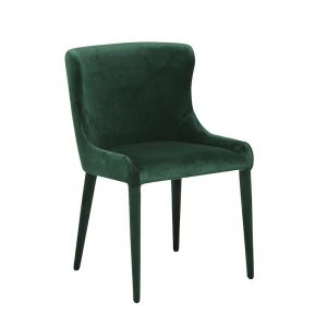 Claudia Dining Chairs | Dark Green Velvet