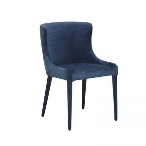 Claudia Dining Chairs | Navy Velvet