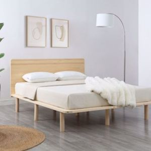 Clayton Wooden Bed Frame with Headboard | Queen