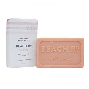 Cleansing Bar | Organic Rosewater with Pink Clay Bar | 100g | by Beach Road Naturals