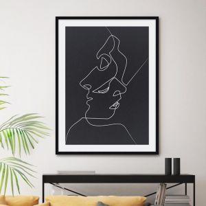 Close Noir | Black | by Quibe | Unframed Art Print
