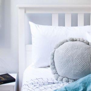 Closely Knit Soleil Pom Pom Cushion | Silver Grey