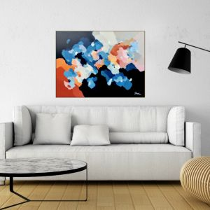 Clouds At Dusk 3 | Original Framed Artwork by Lauren Danger