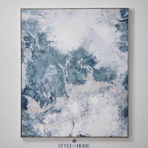 Cloudy Sky I | Canvas | Antique Silver Frame