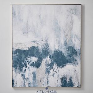 Cloudy Sky II  | Canvas in Antique Silver Frame