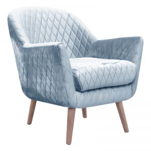 Club Chair | Velvet | Blue Grey