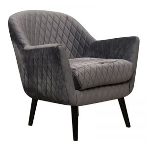 Club Chair | Velvet | Charcoal