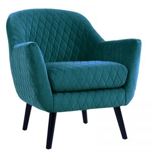 Club Chair | Velvet | Peacock