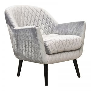 Club Chair | Velvet | Pebble Grey