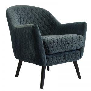 Club Chair | Velvet | Steel