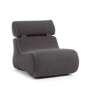 Club Upholstered Armchair | Graphite