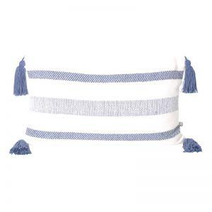 Coast Lumbar Cushion | Navy Stripe | BY SEA TRIBE