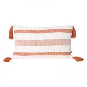 Coast Lumbar Cushion | Rust Stripe | BY SEA TRIBE