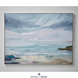 Coastal Outlook   Canvas   Antique Silver Frame