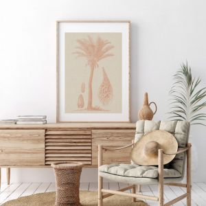 Coastal Palm Coffee 2 | Print | Stretched Canvas or Printed Panel
