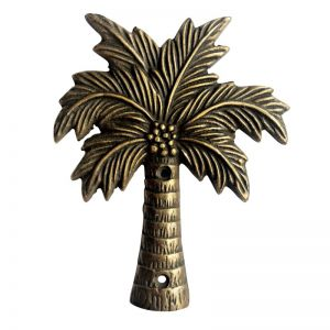 Coconut Palm Brass Plaque