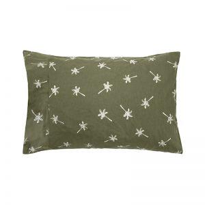 Cocos Flannelette Sheet Set Olive   Single