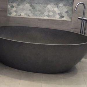 CocoTerrazzo Stone Bath 1600 | Charcoal