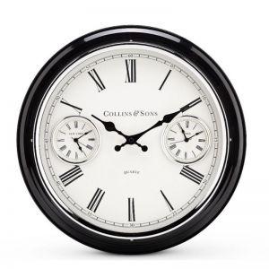 Collins Metal Multi Time Wall Clock 41cm by Toki