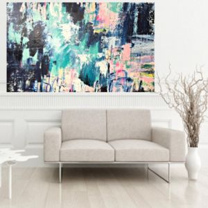 Colour Bomb | Artwork on Linen by Lou Sheldon